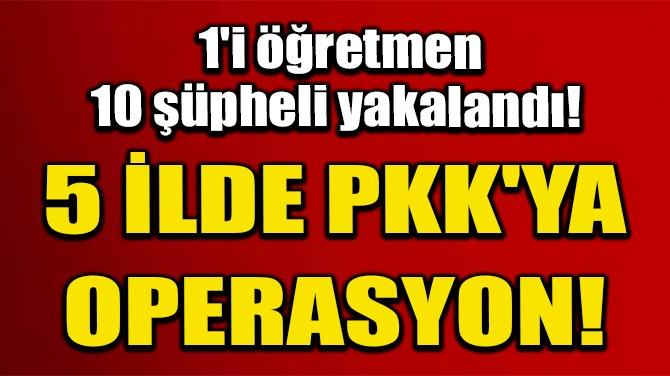 5 İLDE PKK'YA OPERASYON; 1'İ ÖĞRETMEN 10 ŞÜPHELİ YAKALANDI