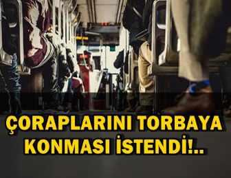 OTOBÜSTE ÇORAPLARI KOKAN YOLCU GÖZALTINA ALINDI!..