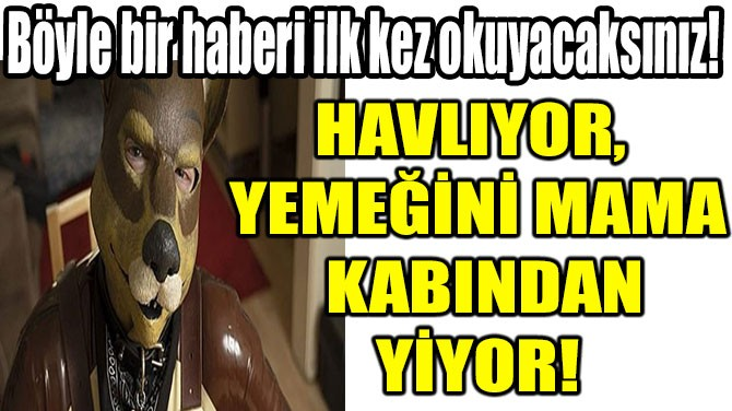 HAVLIYOR, YEMEĞİNİ MAMA KABINDAN YİYOR!