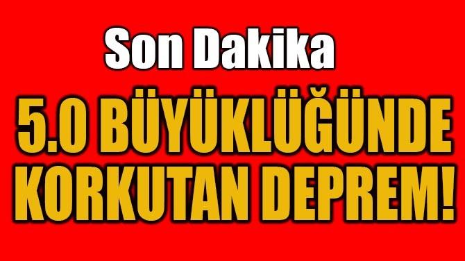 ENDONEZYA'DA 5.0 BÜYÜKLÜĞÜNDE DEPREM!