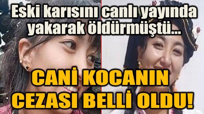 CANİ KOCANIN  CEZASI BELLİ OLDU!