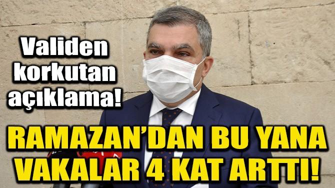 """VALİ IŞIK: """"RAMAZAN ÖNCESİ 120 OLAN VAKA SAYISI 500'E ULAŞTI"""""""