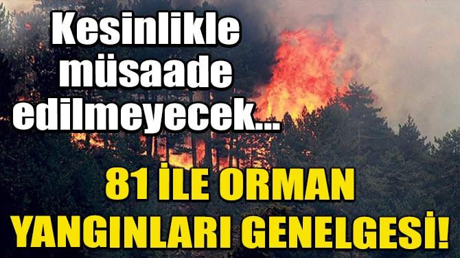 81 İLE ORMAN YANGINLARI GENELGESİ!