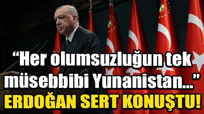 CUMHURBAŞKANI ERDOĞAN'DAN ÇOK ÖNEMLİ YUNANİSTAN AÇIKLAMASI!