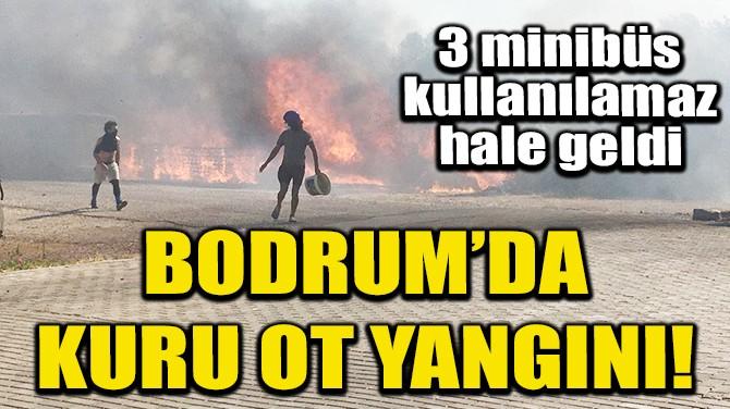 BODRUM'DA ÇIKAN YANGINDA 3 MİNİBÜS KULLANILAMAZ HALE GELDİ!